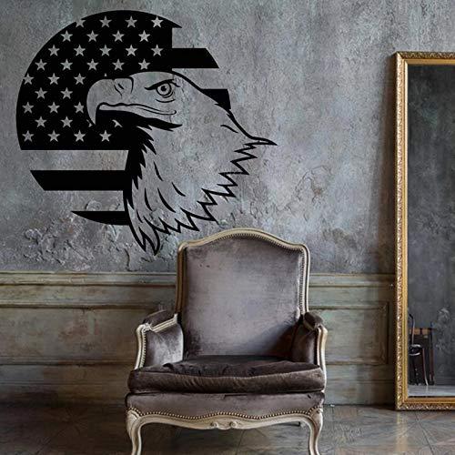 Pared Águila Calva Símbolo Estados Unidos Bandera Estadounidense Bajo Patriótico Único