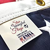 American Flag 4x6 - 100% Made In USA using Tough, Long Lasting Nylon Built for Outdoor Use, Featuring Embroidered Stars and Sewn Stripes plus Superior Quadruple Stitching on the Fly End