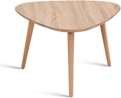 Modern Minimalist Coffee Table Nordic Solid Wood Living Room Side Table Coffee Table Suitable for Living Room Office (Size : 60 * 40cm)