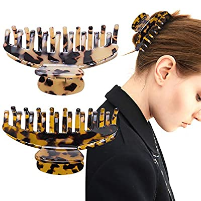2 Large Hair Claw Clips Nonslip Big Hair Claw Clips for Women Hair Clips for Women Girls Strong Hold Hair Clips for Thick Hair Accessories