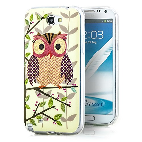 Saxonia. OWL motivo cover in silicone per Samsung Galaxy Note 2(GT-N7100N7105LTE) elegante e pratica custodia di protezione | scene, Owl 2, Samsung Galaxy Note 2