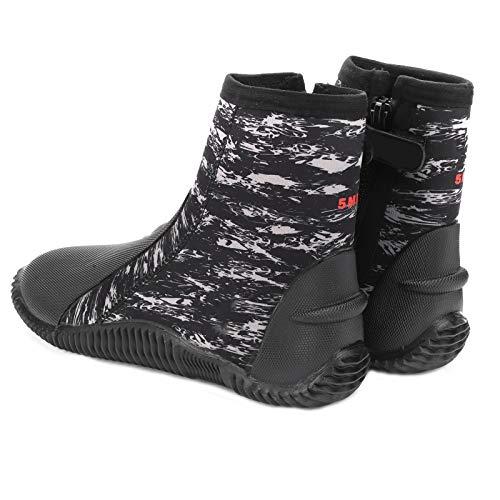 FOLOSAFENAR Talla 42 Bota de Buceo cómoda de 5 mm Zapato de Buceo de Neopreno Resistente y Ligero para bucear, Nadar