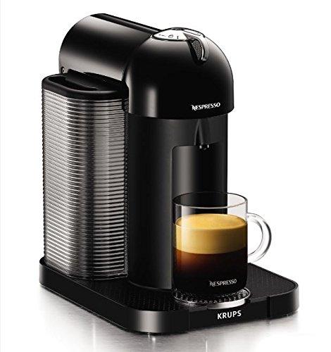 Nespresso, Pod Coffee Machine, Vertuo, Black finish by Krups, XN901840, 1260 W