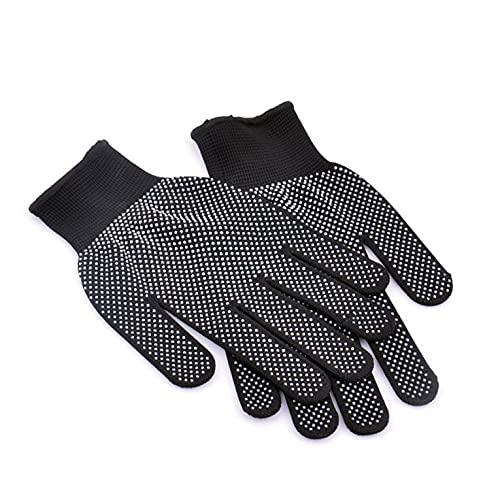 Alta temperatura resistente al calor guantes de barbacoa algodón silicona antideslizante pelo peinado guantes de trabajo microondas horno guantes