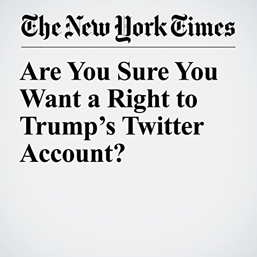 Are You Sure You Want a Right to Trump's Twitter Account? copertina
