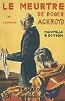 Le Meurtre de Roger Ackroyd par Christie