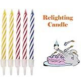 ANAGFEOL Jouet Magic Trick Relighting Birthday Candle 10 Piece Naughty Party Joke Gift Kids Toy Personnalisé IdéE Cadeau