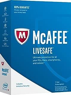 mcafee livesafe renewal cost