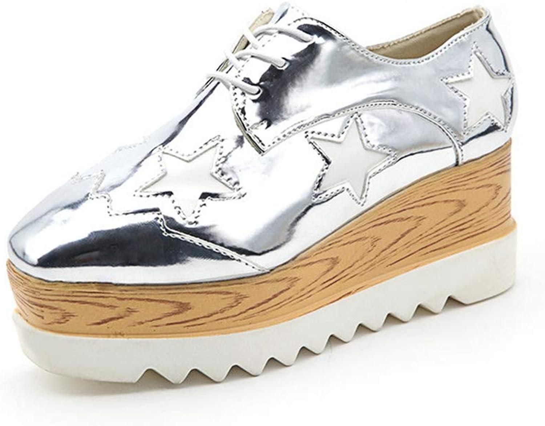 U-MAC Women Daily Walking shoes Hidden Heels Autumn Breathable Waterproof Wedges Sneakers Platform PU Leather