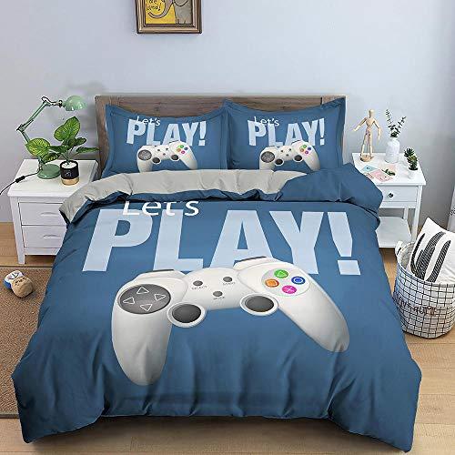 Bedclothes-Blanket Juego de sabanas Infantiles Cama 90,Conjunto de Tres Piezas de impresión 3D de Kit de Ropa de Cama Almohada-9_230 * 260cm