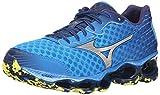 Mizuno Men's Wave Prophecy 4 Running Shoe,Electric Blue Lemonade/Silver,11.5 D US