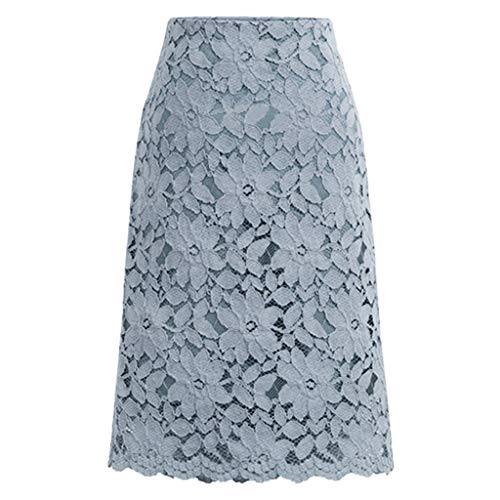 Lulupi Spitzenrock Damen Stretch Rock Spitze Elegant Slim Fit Abendrock Knielang Bleistiftröcke Röcke mit Hoher Taille Röcke in A-Linie