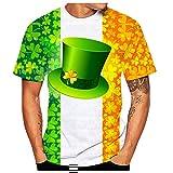 Fenverk ST. Patrick's Day Leprechaun Kostüm Klee T-Shirts Herren,T-Shirt Super Slim Fit...