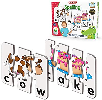 The Learning Journey: Match It! - Spelling - 20 Self-Correcting Spelling Puzzle for Three and Four Letter Words with Matching Images