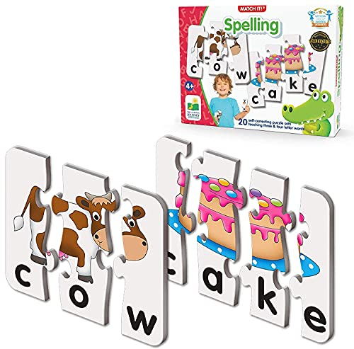 Product Image of the The Learning Journey: Match It! - Spelling - 20 Piece Self-Correcting Spelling...