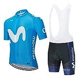 STEPANZU Ropa Ciclismo Hombre Verano Ciclismo Maillot Bicicleta Montaña Manga Corta y Culotte Pantalones Cortos Acolchado 3D