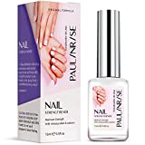 Paulinrise Nail Strengthener for Treating Weak, Damaged Nails, Promotes Growth, Use as a Top Coat or Base Coat