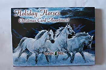 Leanin  Tree Holiday Horses Christmas Card Assortment 20 Cards & 22 Envelopes