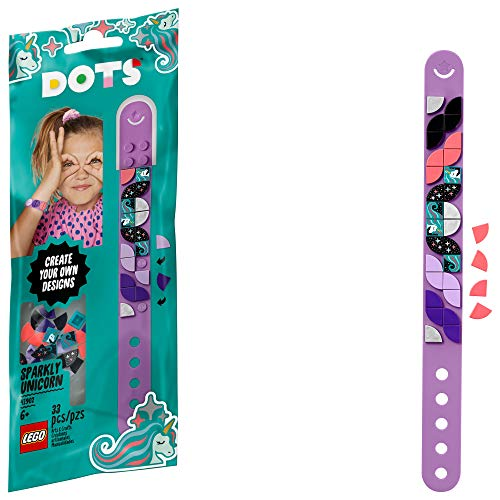 LEGO DOTS Sparkly Unicorn Bracelet 41902 DIY Craft Bracelet Making Kit