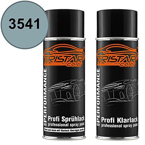 TRISTARcolor Autolack Spraydosen Set für Alpine/Renault/Renault RVI 3541 Gris Galaxie Metallic Basislack Klarlack Sprühdose 400ml