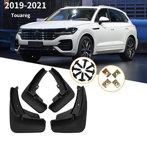 ENFILY 4 aletas de barro para VW Touareg 2019-2021, protectores contra salpicaduras, guardabarros delanteros, guardabarros traseros, accesorios para llantas de cuerpo (Touareg 2019-2021)