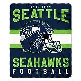 Officially Licensed NFL Seattle Seahawks 'Singular' Printed Fleece Throw Blanket, 50' x 60', Multi Color