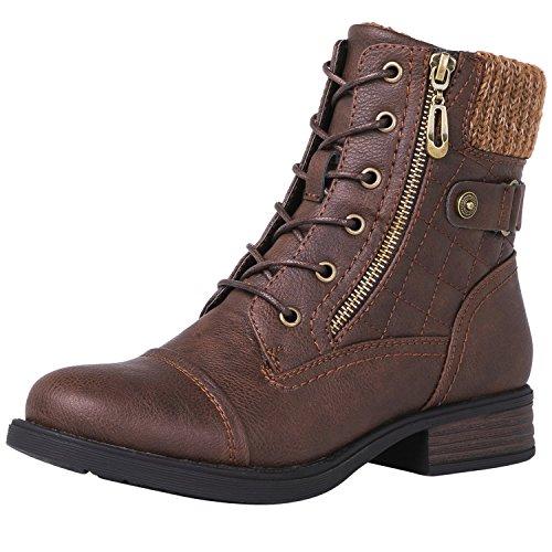 GLOBALWIN Women's 1821 Brown Fashion Boots 6.5M