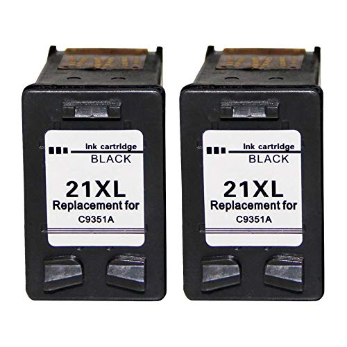 WXJ Veteranos Cartuchos de Tinta FO HP21 22 HP22 for HP DeskJet F2280 F2180 F4180 F300 F380 F2100 F2200 Impresoras (Color : 2 x 21BK)