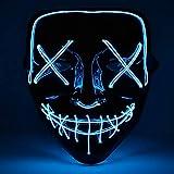 shirylzee Máscaras Halloween LED, Máscaras Halloween de Terror con 3 Modos Máscara Disfraz Luminosa Craneo Esqueleto para Halloween Navidad Cosplay Fiesta Show Mascarada (Estilo 1)
