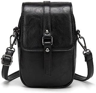 Women Leather Crossbody Phone Bag, Small Messenger Shoulder Bag Cash Handbag Wallet Purse