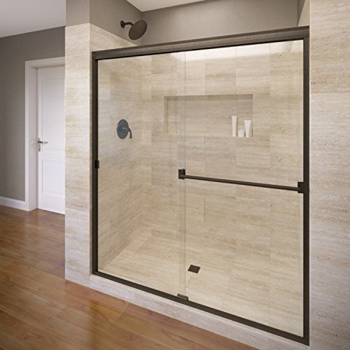 Basco Classic Sliding Shower Door, Fits 56-60 inch opening, Clear...