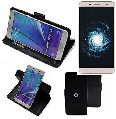 K-S-Trade® Case Schutz Hülle Für -Cubot H1- Handyhülle Flipcase Smartphone Cover Handy Schutz Tasche Bookstyle Walletcase Schwarz (1x)