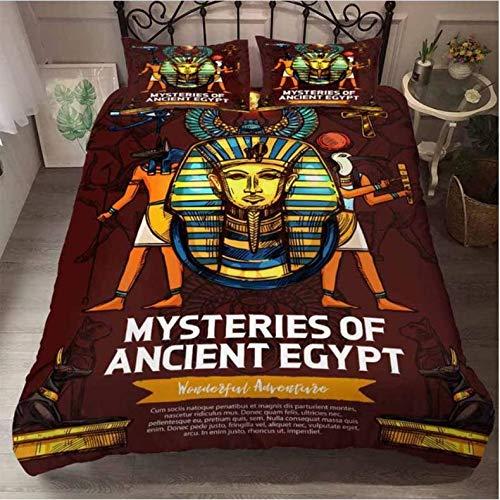 Nat999Lily bedding set 3d print Egyptian pharaoh duvet cover set and pillowcase bedding set king size home textiles Egyptian Fashion Home Textile 173x218cm