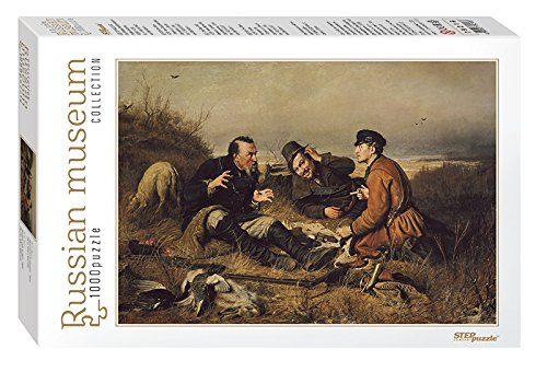 Puzzle 1000 Teile - Russian Museum - Perov. Hunters stop to Rest