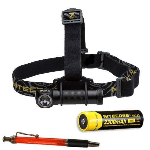 Nitecore HC30W 1000 Lumen Headlamp w/NL183 2300mAh Battery