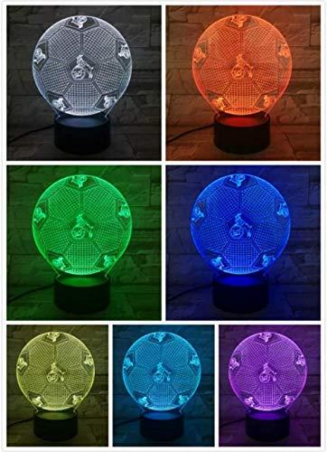 1. FC Köln Fußball 3D Lampe Raum Dekorativ Lampe Junge Kinder Kit Deutsch Fußball FC LED Nachtlicht