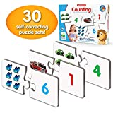The Learning Journey: Match It! - Counting - 30 Piece Self-Correcting Number & Learn to Count Puzzle - Preschool Learning Toys - Award Winning Toys