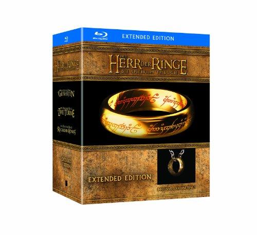 """Der Herr der Ringe – Die Spielfilm Trilogie (Limited Extended Editions inkl. """"Der Eine Ring""""-Replik, exklusiv bei Amazon.de) [Blu-ray]"""