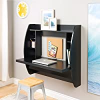 Prepac Wall Mounted Floating Desk with Storage