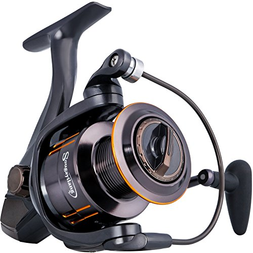 Sougayilang Fishing Reel, Light Smooth Bass Gear Spinning Casting Left Right Saltwater Freshwater Fishing Reels-WQ4000