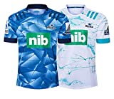 DZHTSWD 2020 Nouvelle-Zélande Blues Home and Away Rugby Maillots Hommes Maillots Maillot d'entraînement Fans Respirant Sport Tops Polos Confortables (Taille: S-5XL), Taille: 5XL, Couleur: Loin