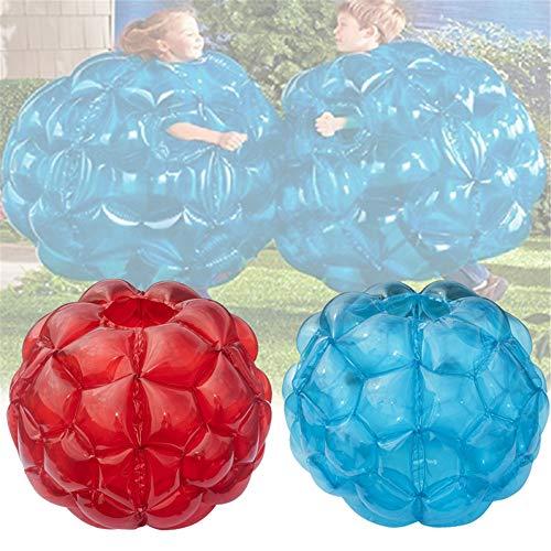 HHY Bubble Ball Bubball KR Stoßkugel Blasen Fußball Anzüge Blasen-Fußball Bubble Soccer für Kinder 24 Zoll Blau