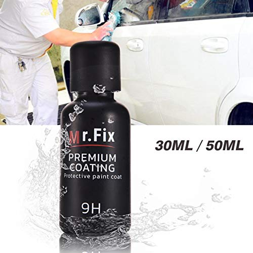 Younar Upgraded Mr. Fix 9H High Gloss Ceramic Car Coating Kit, Anti-Scratch Care Paint Sealant 50ml