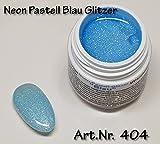 5ml UV Exclusiv Neon-Farbgel Pastell Blau Glitzer