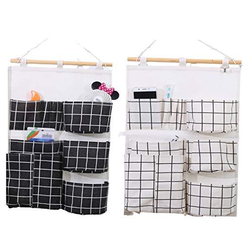 ZMYY - Bolsa de almacenamiento para colgar en la pared, 2 unidades, para guardar teléfonos móviles, llaves, gafas, para baño, cocina, oficina