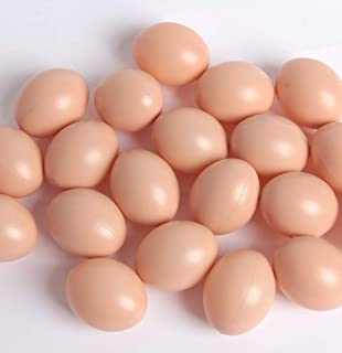 HAPY SHOP Bag of Realistic Chicken Eggs Toy 20 Pack Faux Fake Eggs Food Playset for Kids Home Decor
