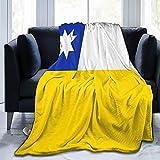 Manta de franela de la bandera de Chile mullida, cómoda, cálida, ligera, suave, para sofá, dormitorio, sofá