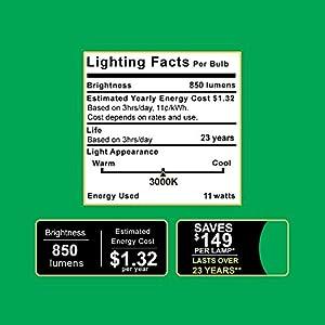 Sunco Lighting 10 PACK - BR30 LED 11WATT (65W Equivalent), 3000K Warm White, DIMMABLE, Indoor/Outdoor Lighting, 850 Lumens, Flood Light Bulb, UL & ENERGY STAR LISTED