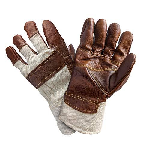 alca® 483000 Arbeitshandschuh Winter 1 Paar braun GRÖßE 11 XXL Werkstatt Arbeitsschutz Leder - gefüttert und hohe Abriebfestigkeit