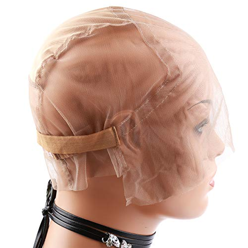 Bella Hair Upgraded Full Lace Wig Cap for Wig Making with Adjustable Straps and Extra Elastic Band (Medium Size)